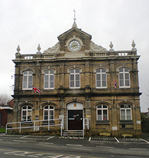 Photo of a Large Victorian building that is the town hall