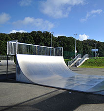 A photo of a skate ramp in east cowes